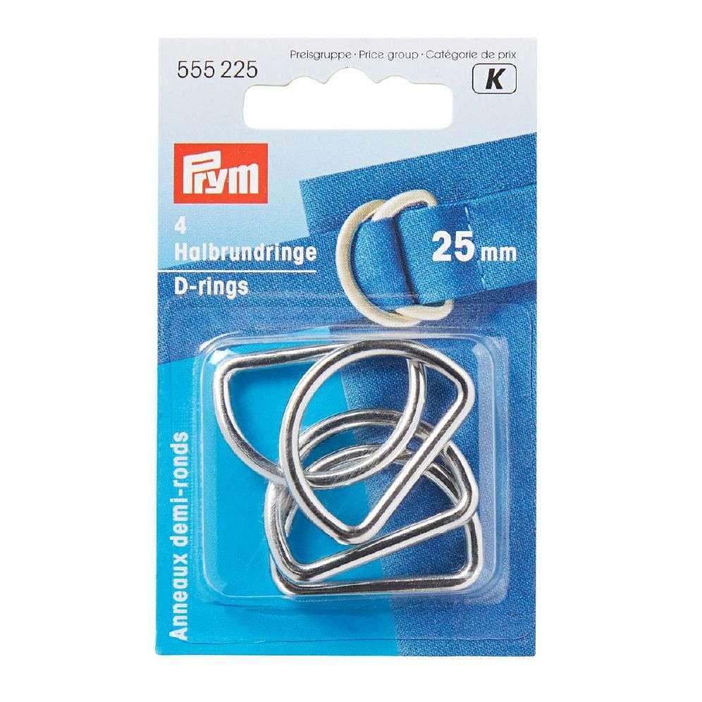 Prym D-ringer - Sølv 25 Mm