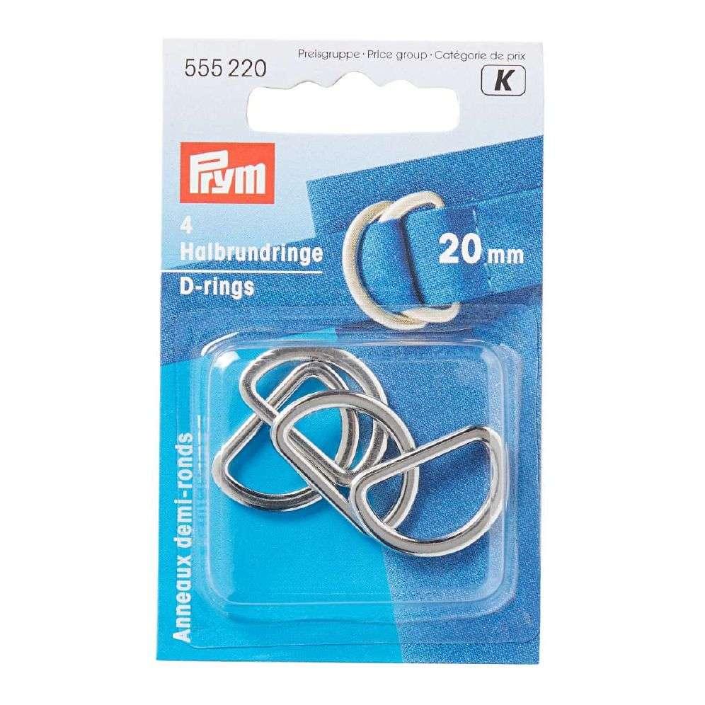 Prym D-ringer - Sølv 20 Mm