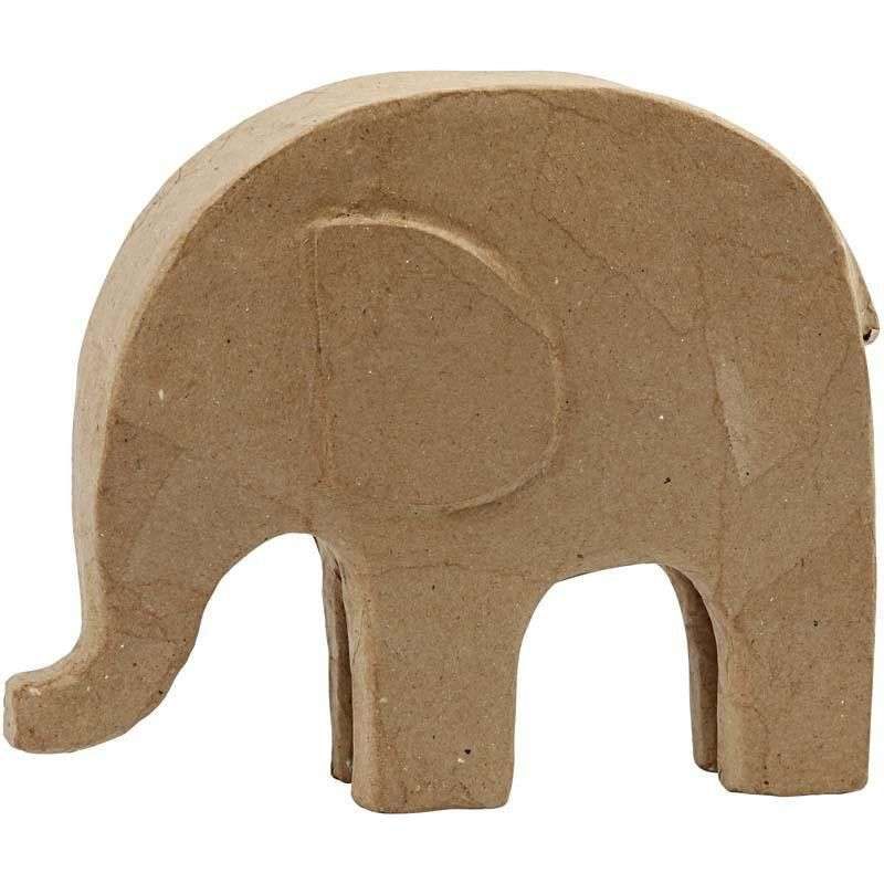 Papp elefant - 21 Cm