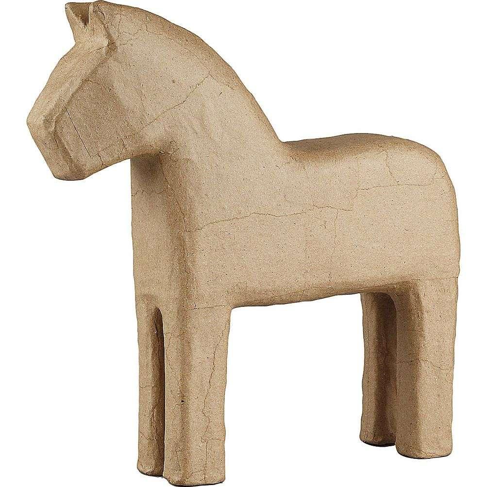 Papp hest - Brun 24,5 cm