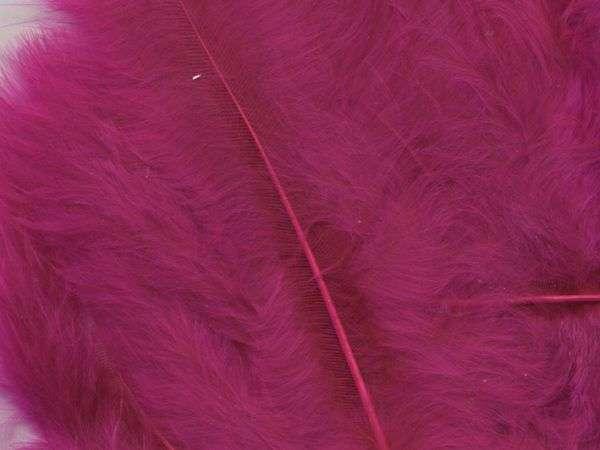 Fjær 15 stk - Mørk Rosa