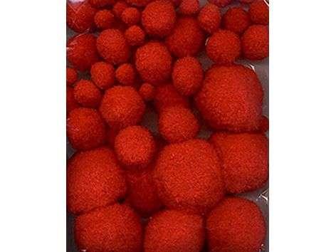 Pomponger sett - Rød