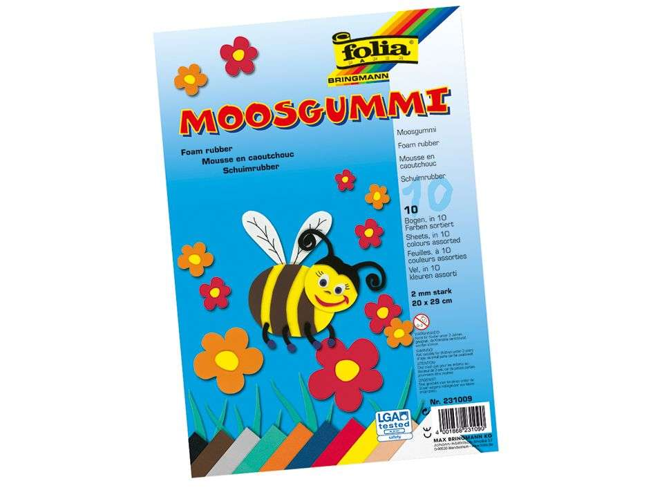Mosgummi 10 ark - Ass A4