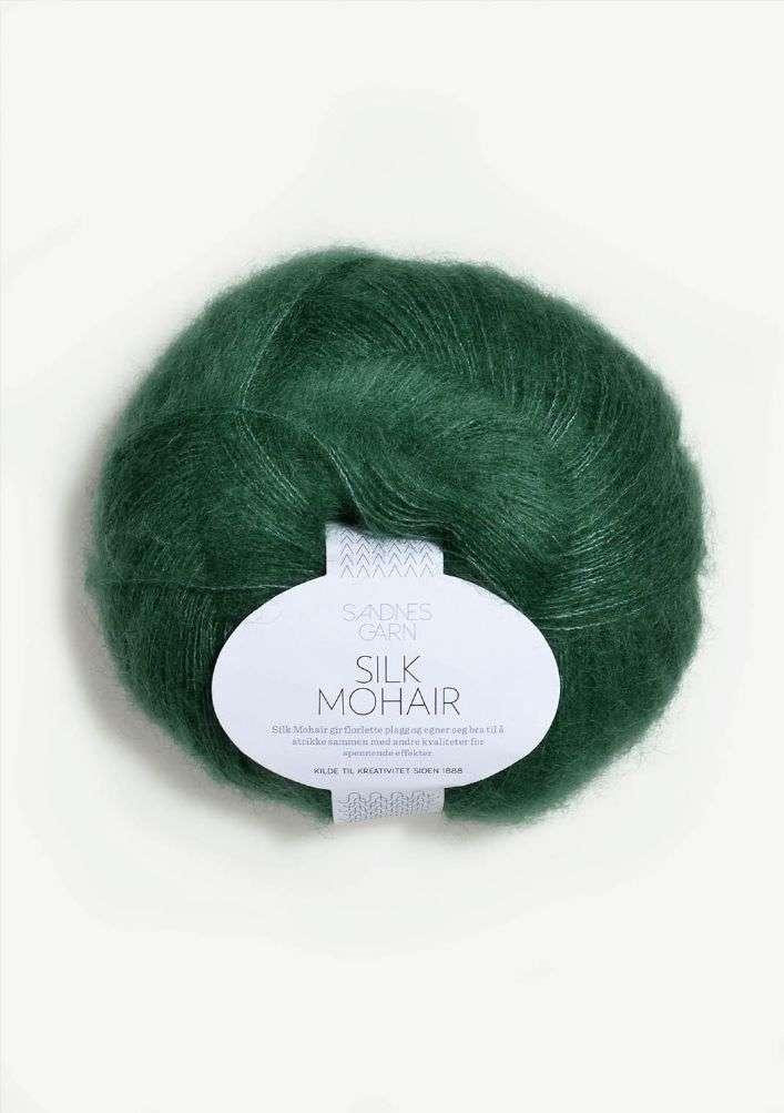 Silk Mohair TILBUD - Smaragdgrønn 50 G