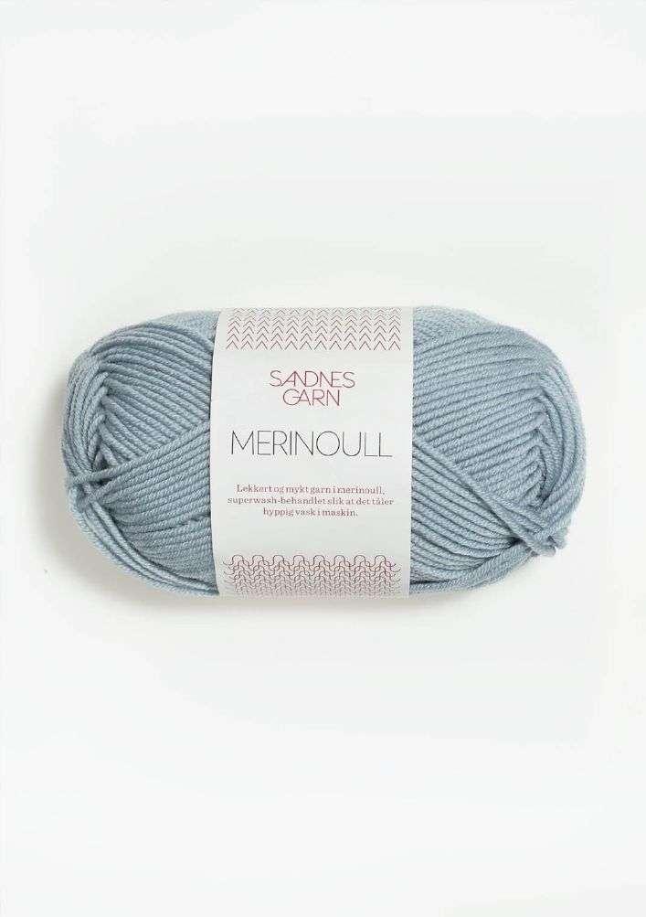 Merinoull TILBUD - isblå 50 G