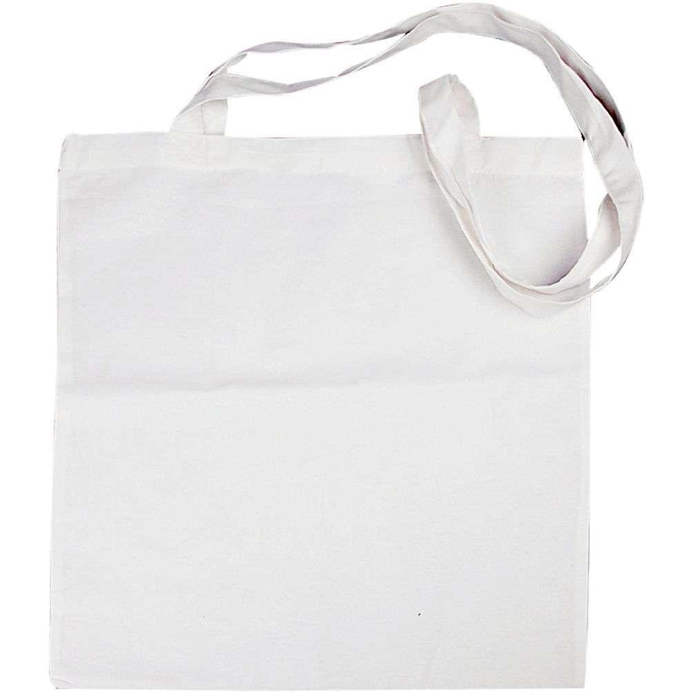 Mulepose med lang hank - Hvit