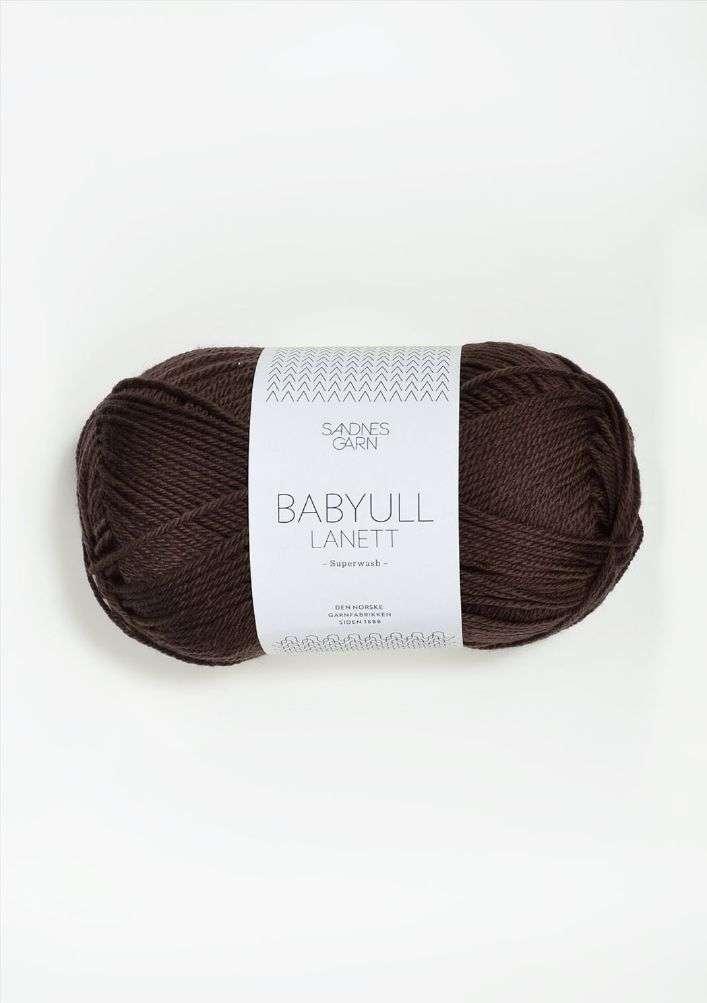 Babyull lanett TILBUD - Mørk brun 50 G