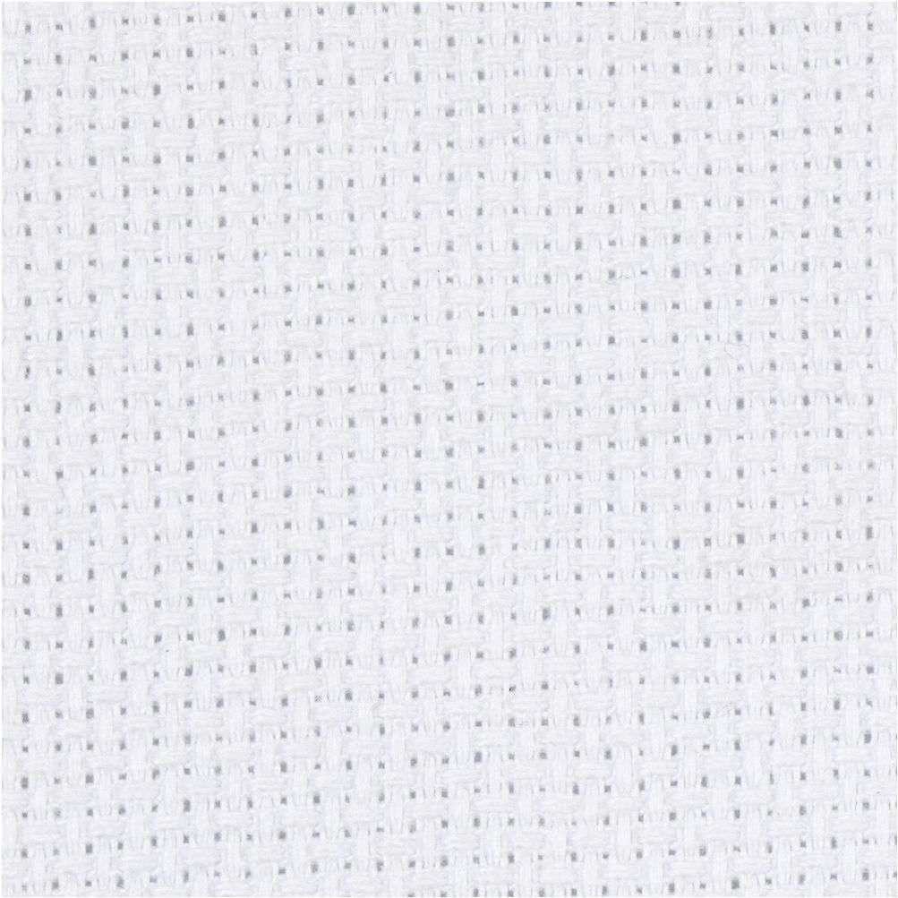 Aidastoff 70 ruter pr. 10 cm - Hvit 50X50 CM