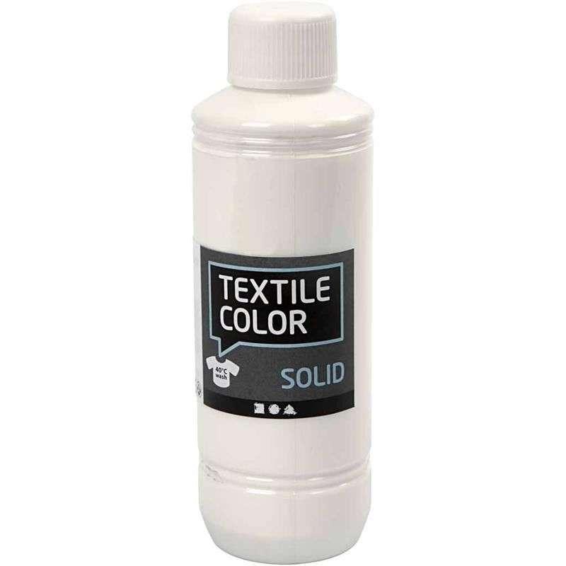 Textile Solid, dekkende - Hvit 250 Ml