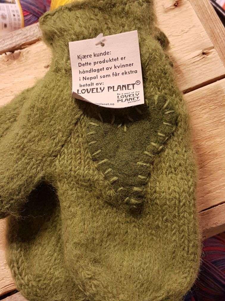 Lovely Planet Votter med hjerte - Grønn/Grønn
