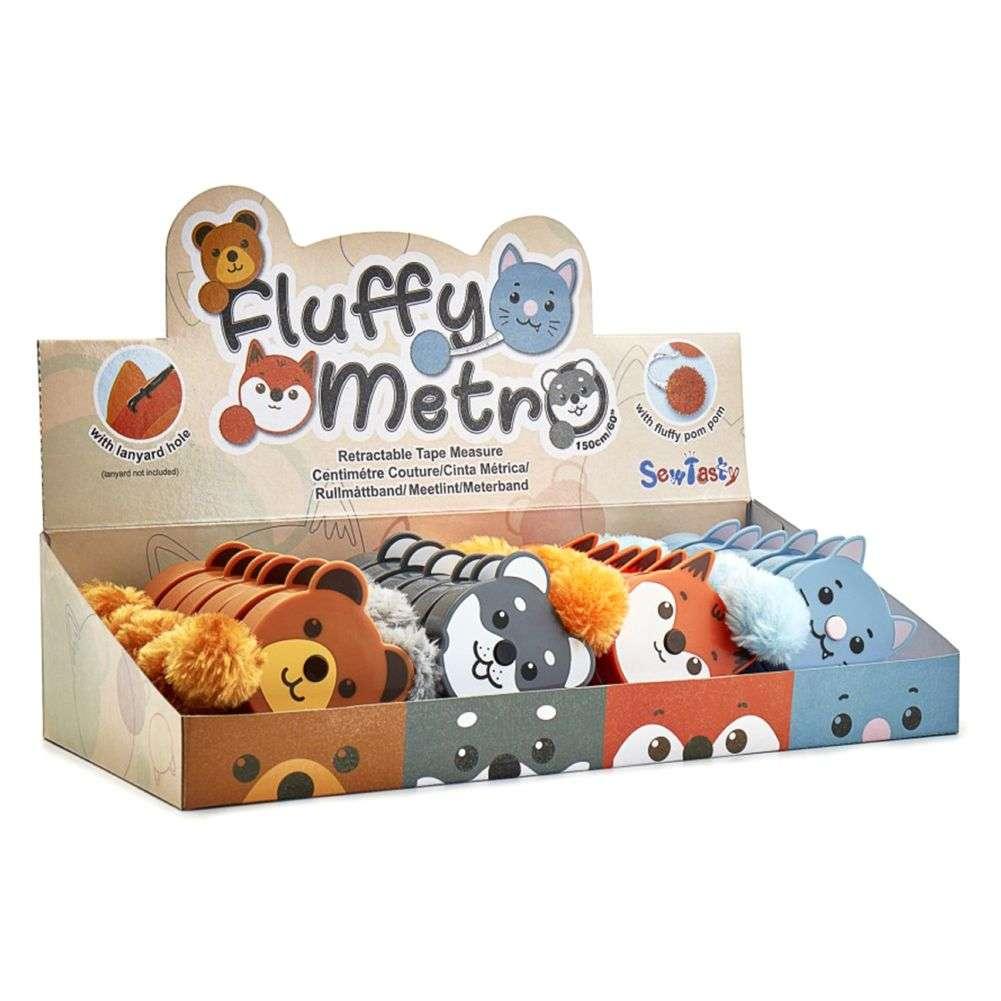 Målebånd display, zoo fluffy - Ass. 5cm